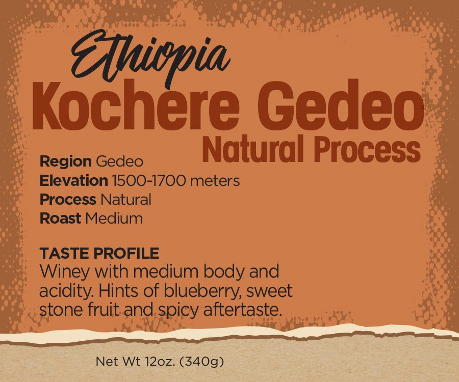 Ethiopian Coffee Beans - Kochere Gedeo