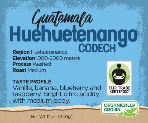 Guatemalan Coffee - Huehuetenango - Fair Trade Organic