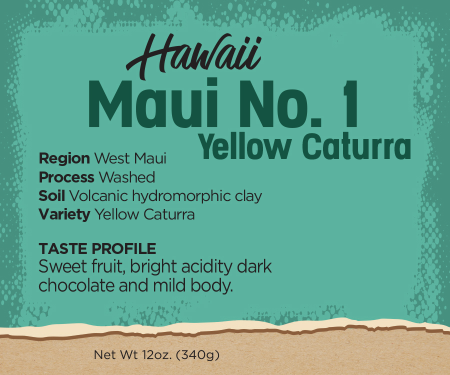 Hawaiian Coffee Beans - Maui Yellow Caturra